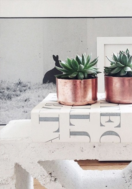 copper planters, Julia Kostreva Shop